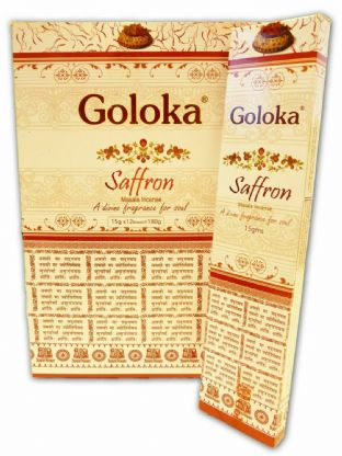 Goloka | Saffron | Hand Rolled Masala Incense | 15g Box